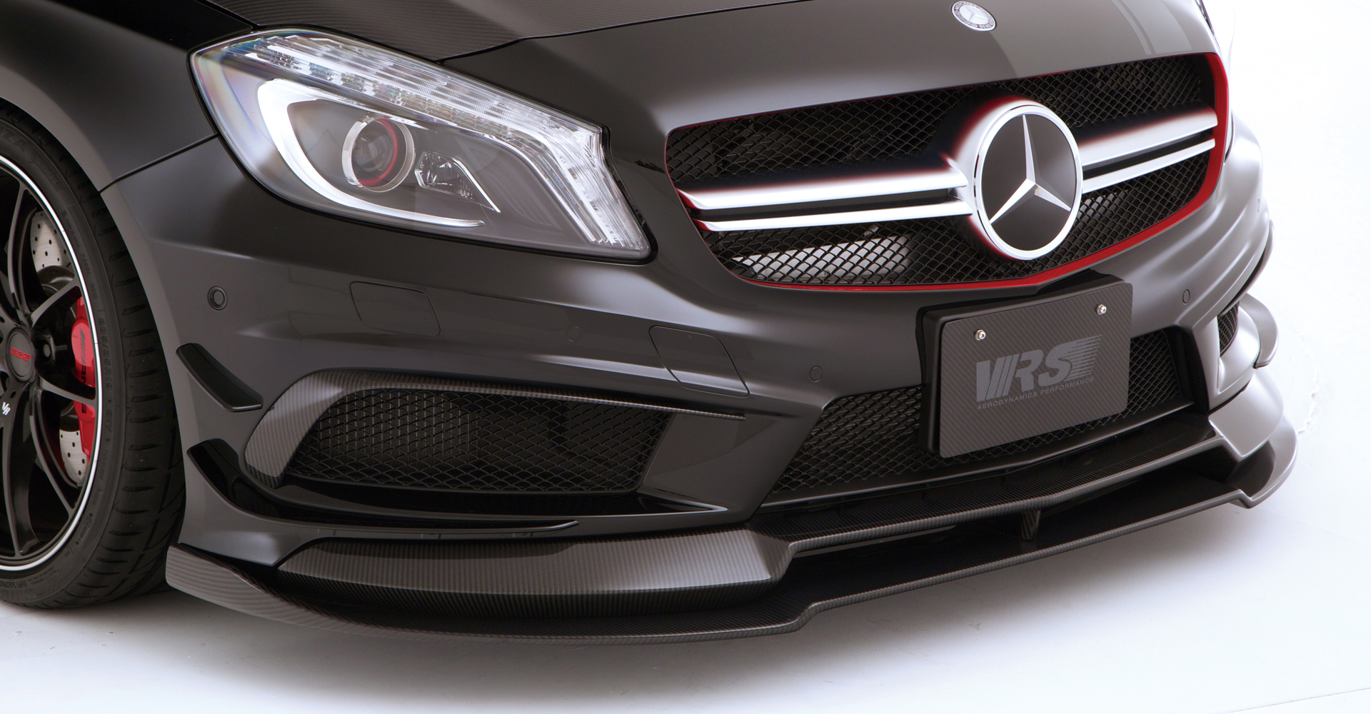 Vrs Mercedes A45 Amg Front Spoiler Extension Lip Set